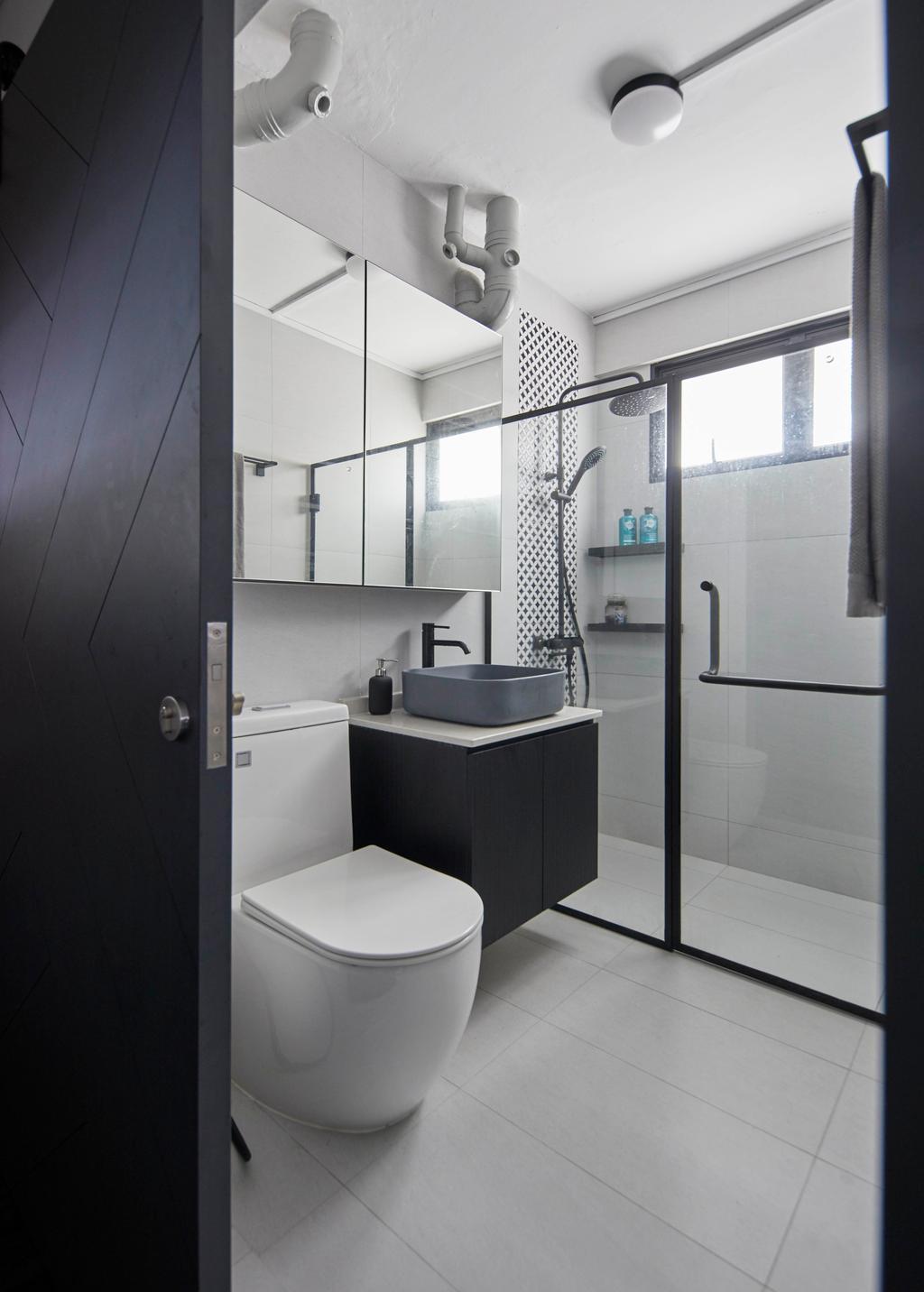 Modern, HDB, Bathroom, Kim Keat Link, Interior Designer, The Interior Lab, Scandinavian