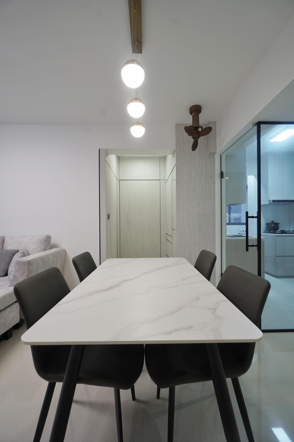 Modern, HDB, Dining Room, Bidadari Park Drive, Interior Designer, Groove Interior Design