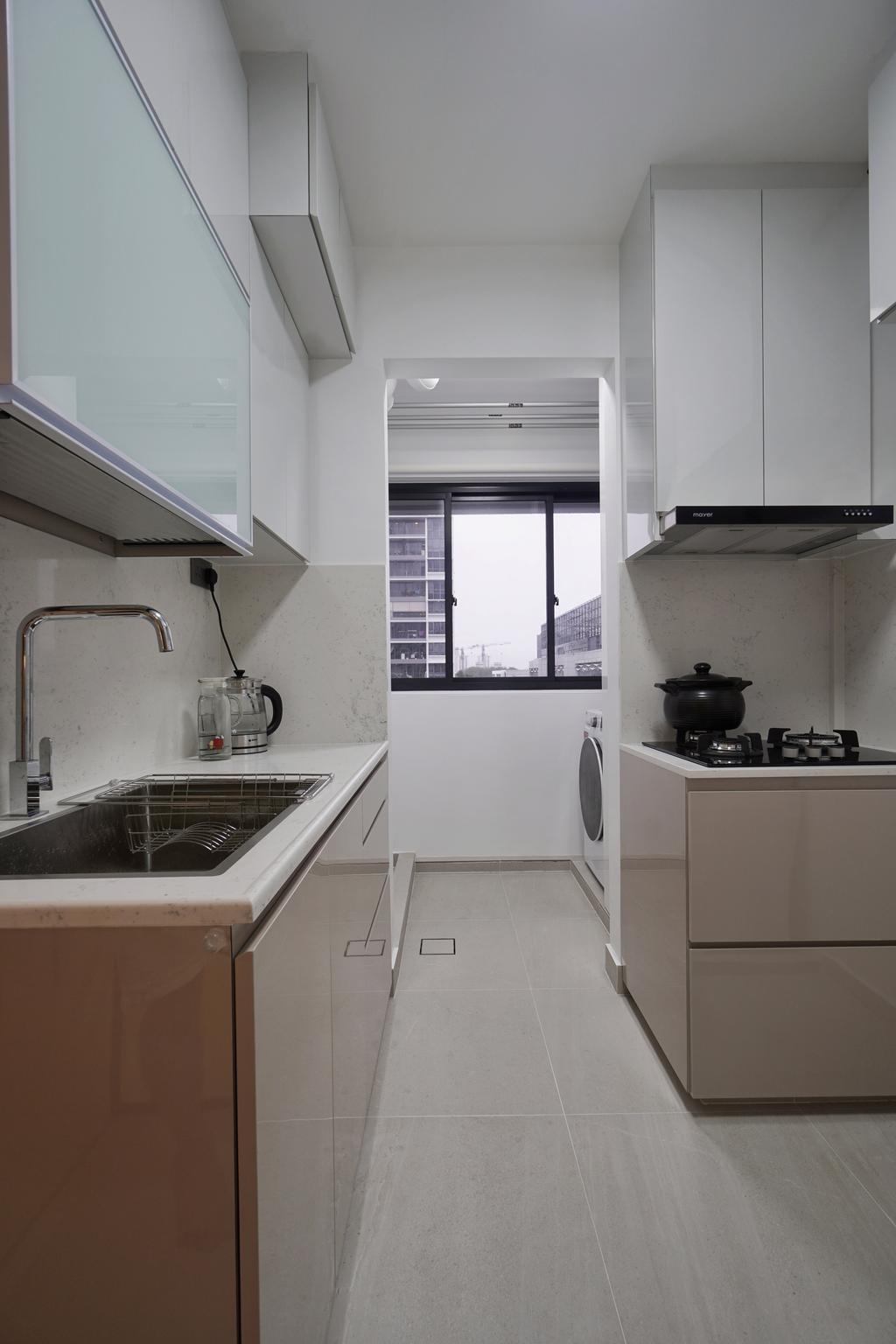 Modern, HDB, Kitchen, Bidadari Park Drive, Interior Designer, Groove Interior Design