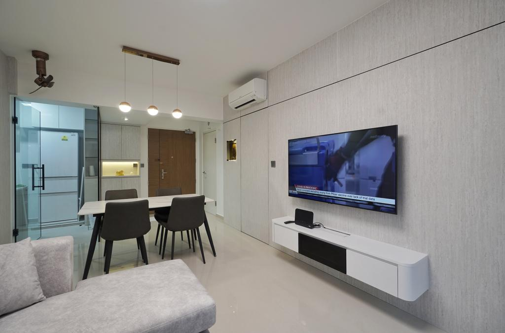 Modern, HDB, Living Room, Bidadari Park Drive, Interior Designer, Groove Interior Design
