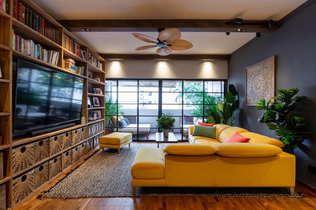 Eclectic, HDB, Living Room, Whampoa Drive, Interior Designer, Regiis Design