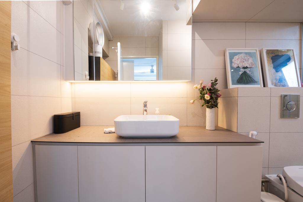 Modern, HDB, Bathroom, Bishan, Interior Designer, PHD Posh Home Design, Scandinavian