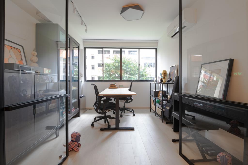 Modern, HDB, Study, Bishan, Interior Designer, PHD Posh Home Design, Scandinavian