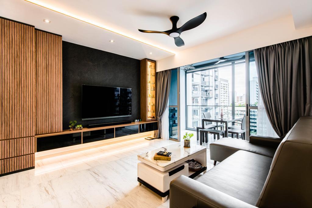 Modern, Condo, Living Room, The Alps Residences, Interior Designer, Conception Studio, Contemporary