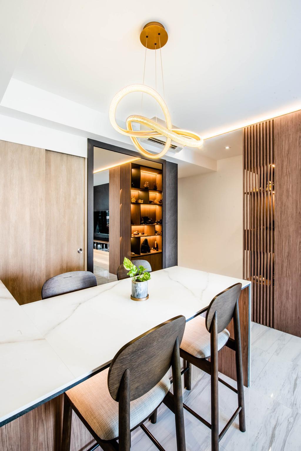 Modern, Condo, Dining Room, The Alps Residences, Interior Designer, Conception Studio, Contemporary