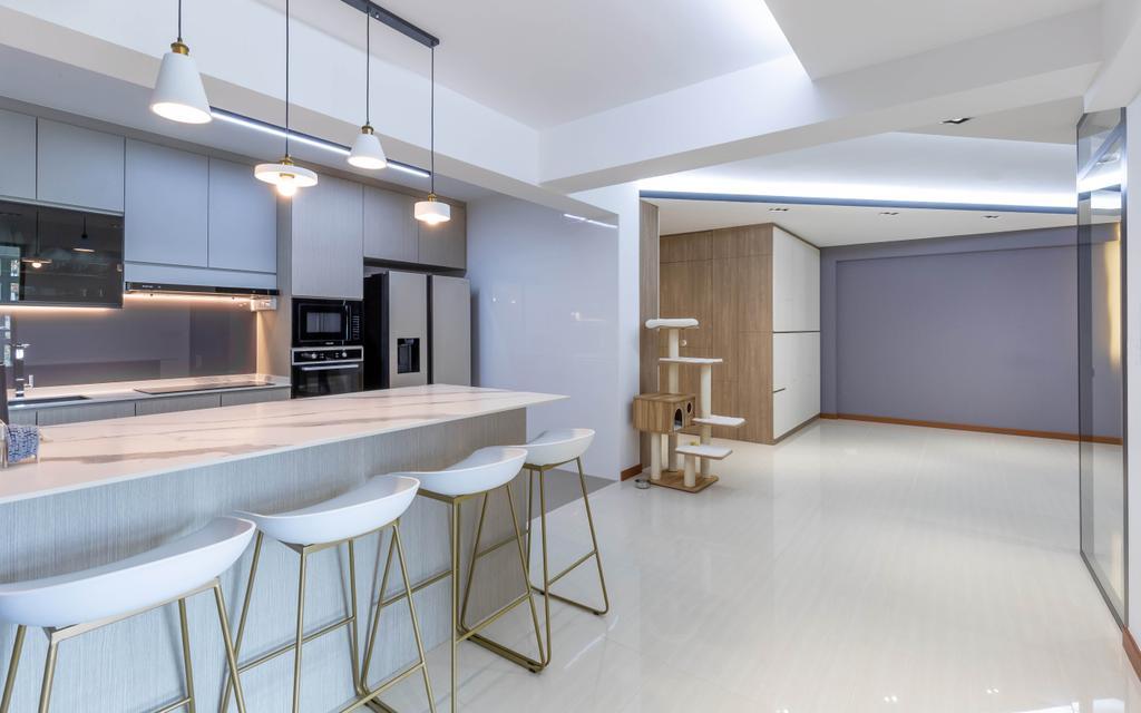 Modern, HDB, Dining Room, Canberra Street, Interior Designer, Interior Times, Scandinavian