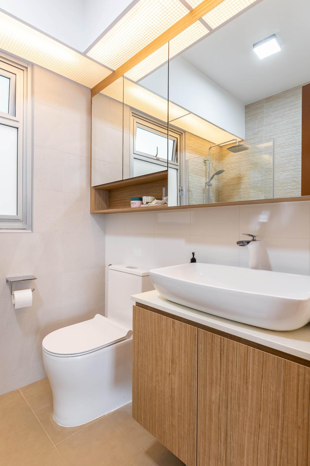 Modern, HDB, Bathroom, Canberra Street, Interior Designer, Interior Times, Scandinavian