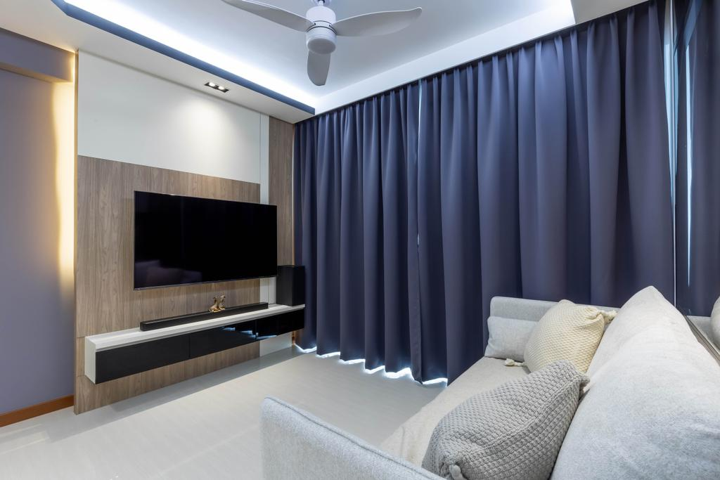 Modern, HDB, Living Room, Canberra Street, Interior Designer, Interior Times, Scandinavian
