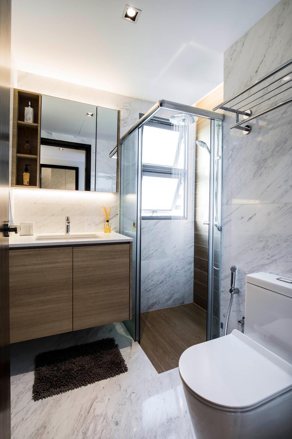 Condo, Bathroom, The Belvedere, Interior Designer, Sky Creation Asia