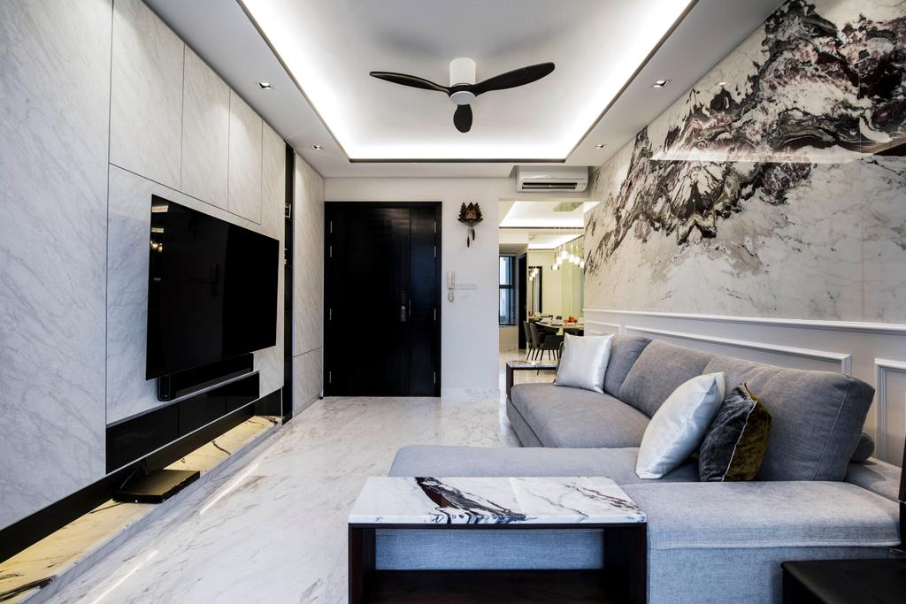 Condo, Living Room, The Belvedere, Interior Designer, Sky Creation Asia