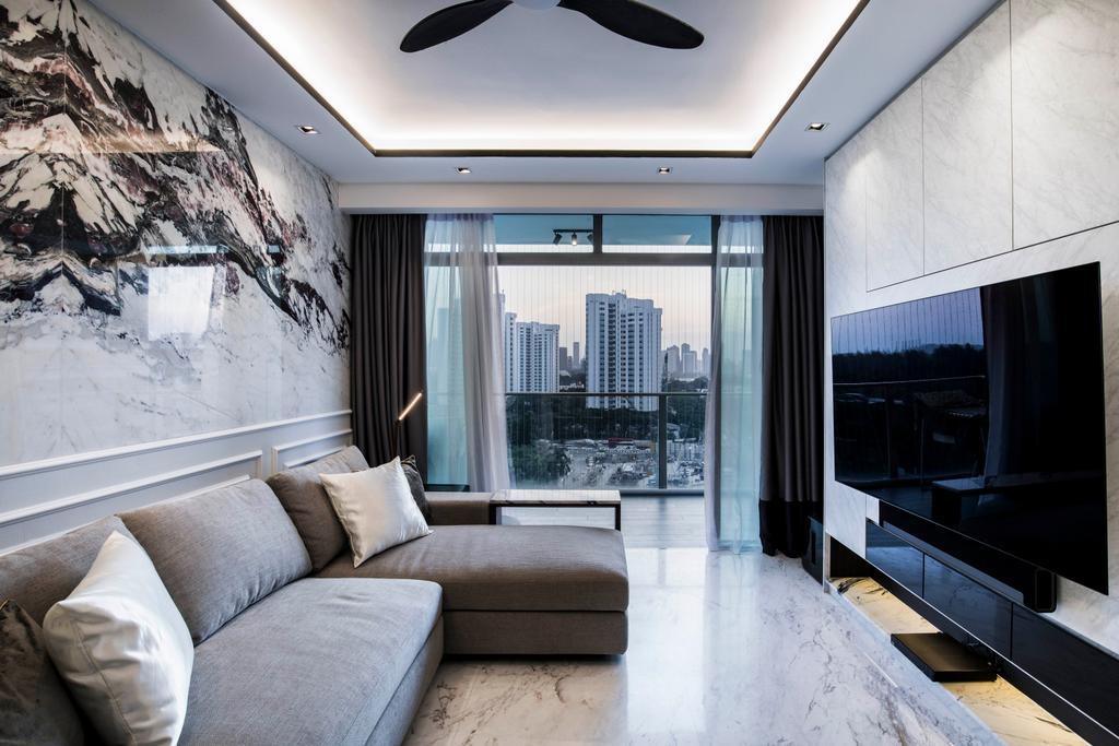 Condo, Living Room, The Belvedere, Interior Designer, Sky Creation Asia