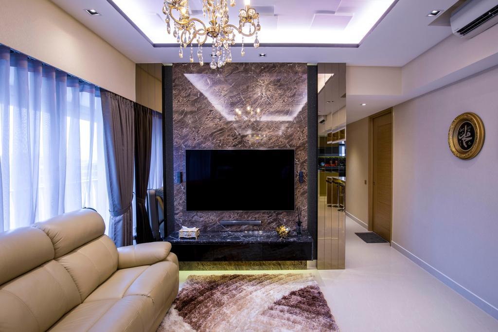 Transitional, Condo, Living Room, Coco Palms, Interior Designer, Sky Creation Asia