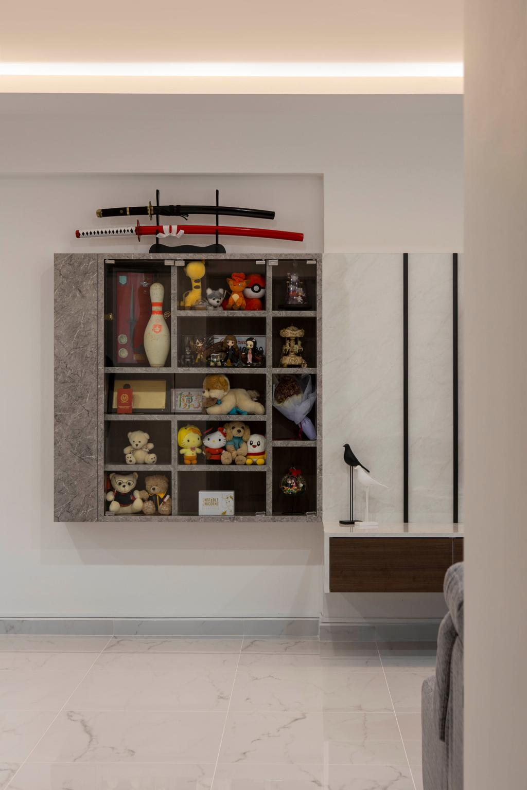 Modern, HDB, Living Room, Jelebu Road, Interior Designer, Aestherior, Contemporary
