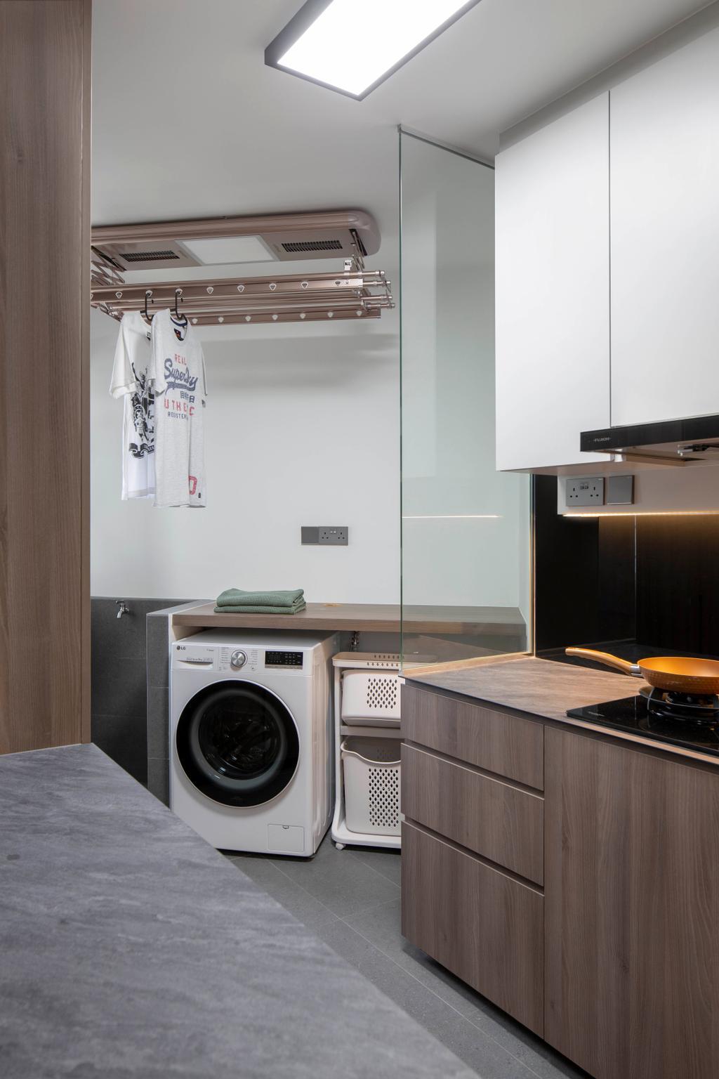 Modern, HDB, Kitchen, Jelebu Road, Interior Designer, Aestherior, Contemporary