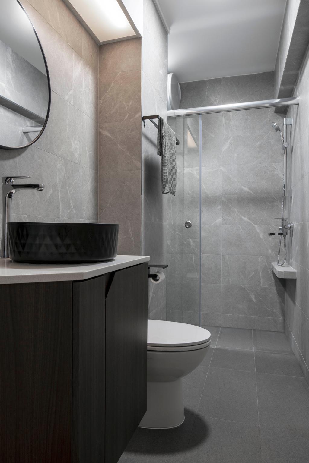 Modern, HDB, Bathroom, Jelebu Road, Interior Designer, Aestherior, Contemporary
