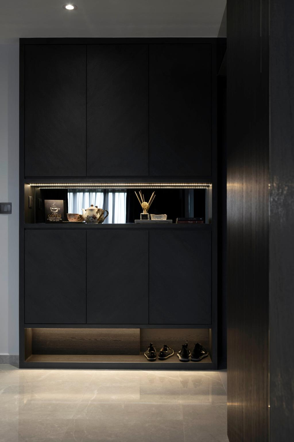 Contemporary, HDB, Living Room, Yishun Street 42, Interior Designer, Aestherior