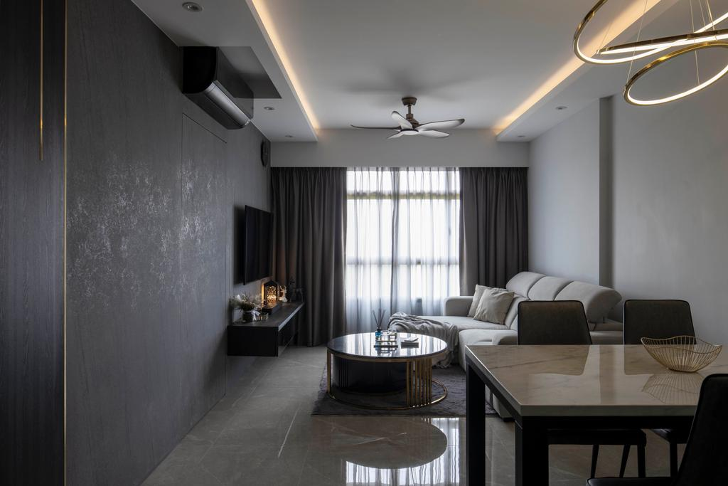 Contemporary, HDB, Living Room, Yishun Street 42, Interior Designer, Aestherior