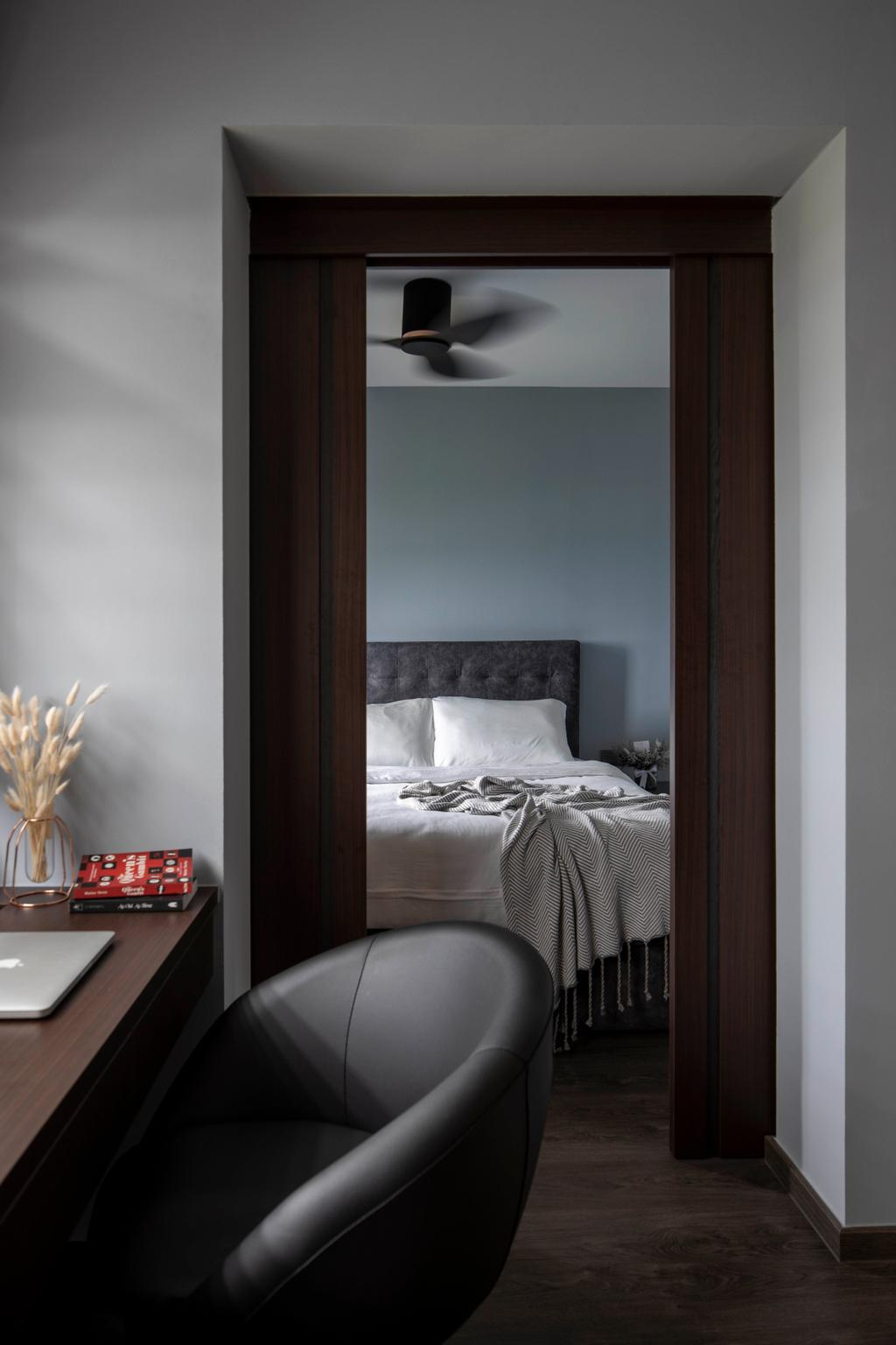 Contemporary, HDB, Bedroom, Yishun Street 42, Interior Designer, Aestherior