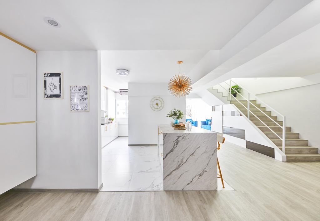 Contemporary, HDB, Kitchen, Yishun Street 61, Interior Designer, MET Interior