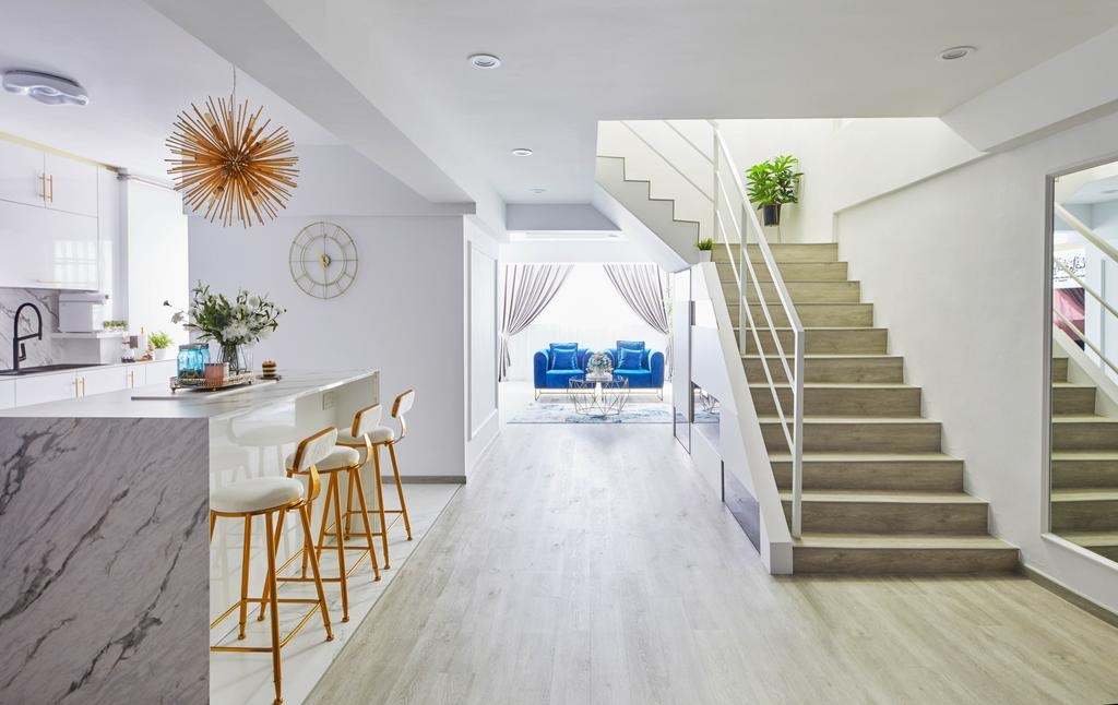 Contemporary, HDB, Kitchen, Yishun Street 61, Interior Designer, MET Interior, Maisonette