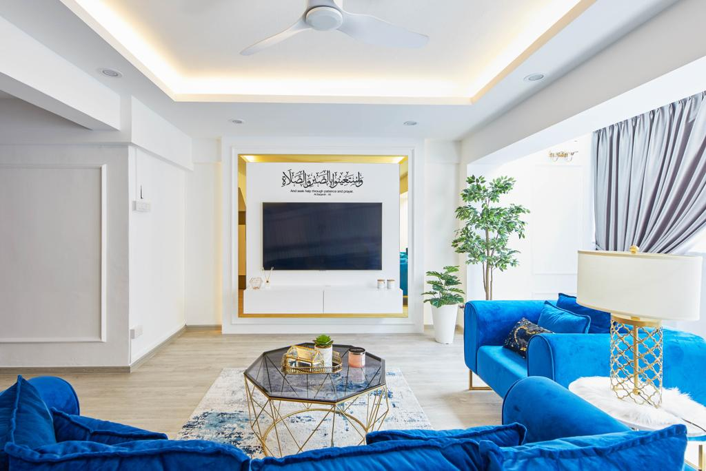 Contemporary, HDB, Living Room, Yishun Street 61, Interior Designer, MET Interior