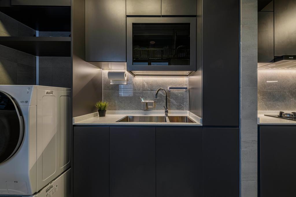 Contemporary, HDB, Kitchen, Canberra Drive, Interior Designer, Butler Interior