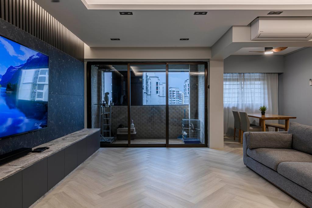 Contemporary, HDB, Living Room, Canberra Drive, Interior Designer, Butler Interior