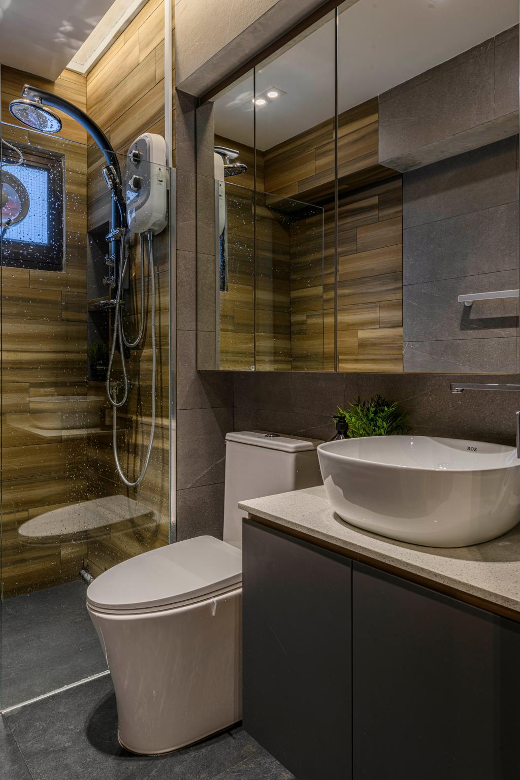 Contemporary, HDB, Bathroom, Canberra Drive, Interior Designer, Butler Interior