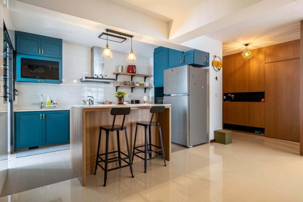 Contemporary, HDB, Kitchen, Tampines Greenweave, Interior Designer, Design 4 Space