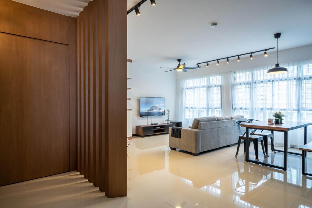 Contemporary, HDB, Living Room, Tampines Greenweave, Interior Designer, Design 4 Space