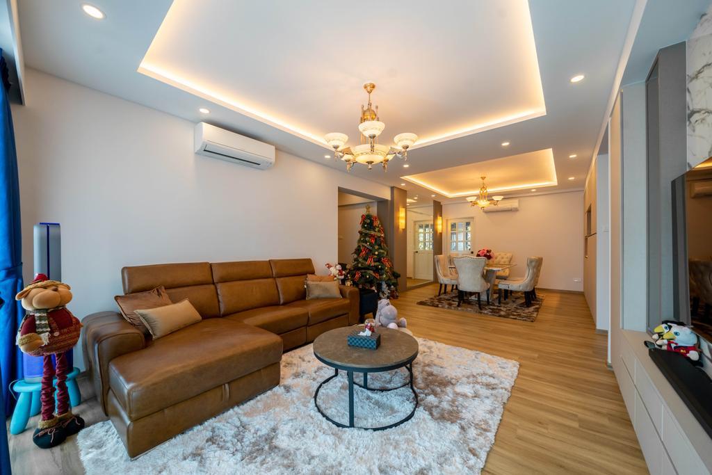 Modern, HDB, Living Room, Hume Park I, Interior Designer, Design 4 Space