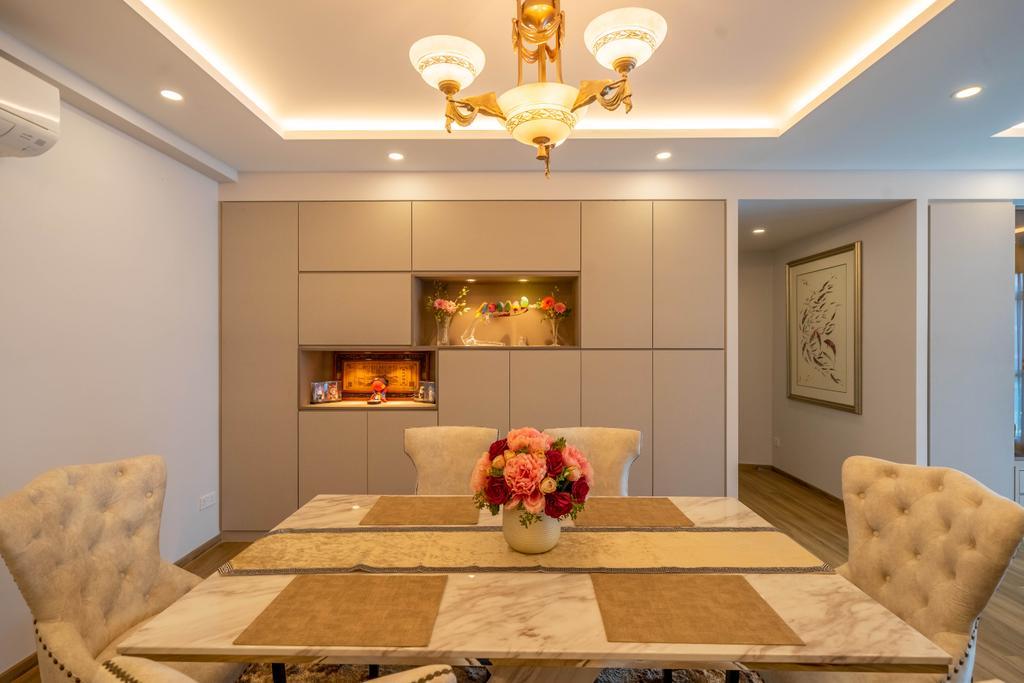 Modern, HDB, Dining Room, Hume Park I, Interior Designer, Design 4 Space