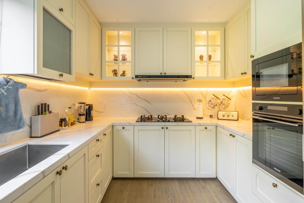 Modern, HDB, Kitchen, Hume Park I, Interior Designer, Design 4 Space