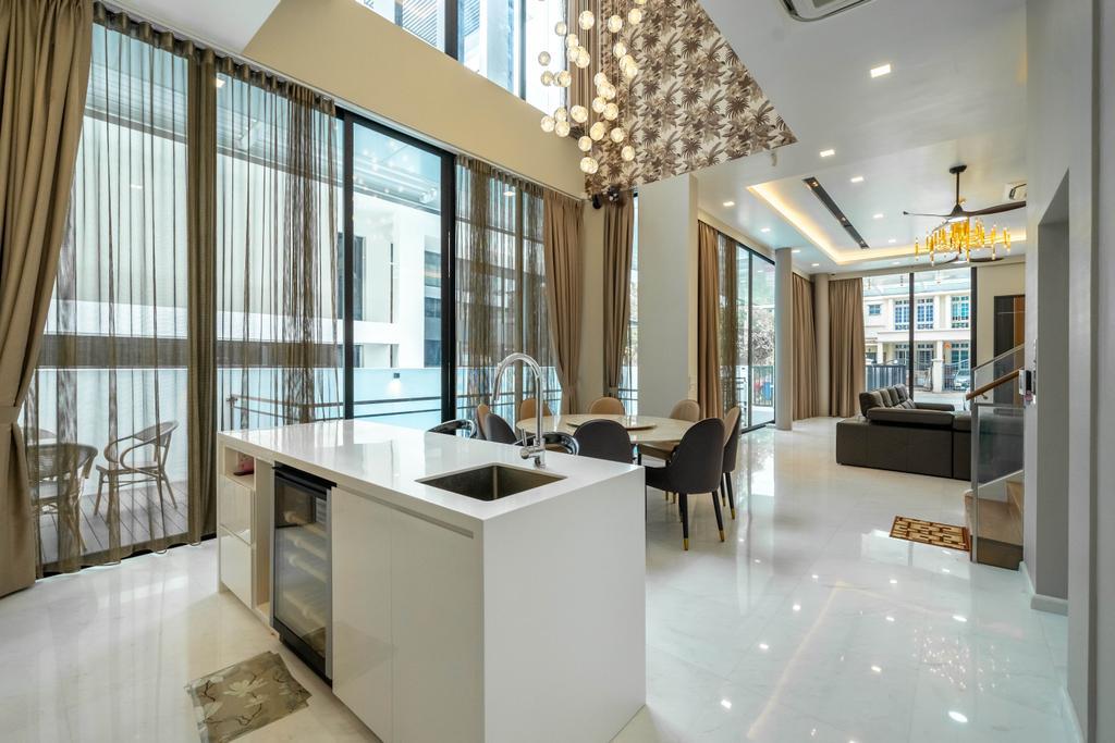 Modern, Landed, Dining Room, Jalan Redop, Interior Designer, Design 4 Space
