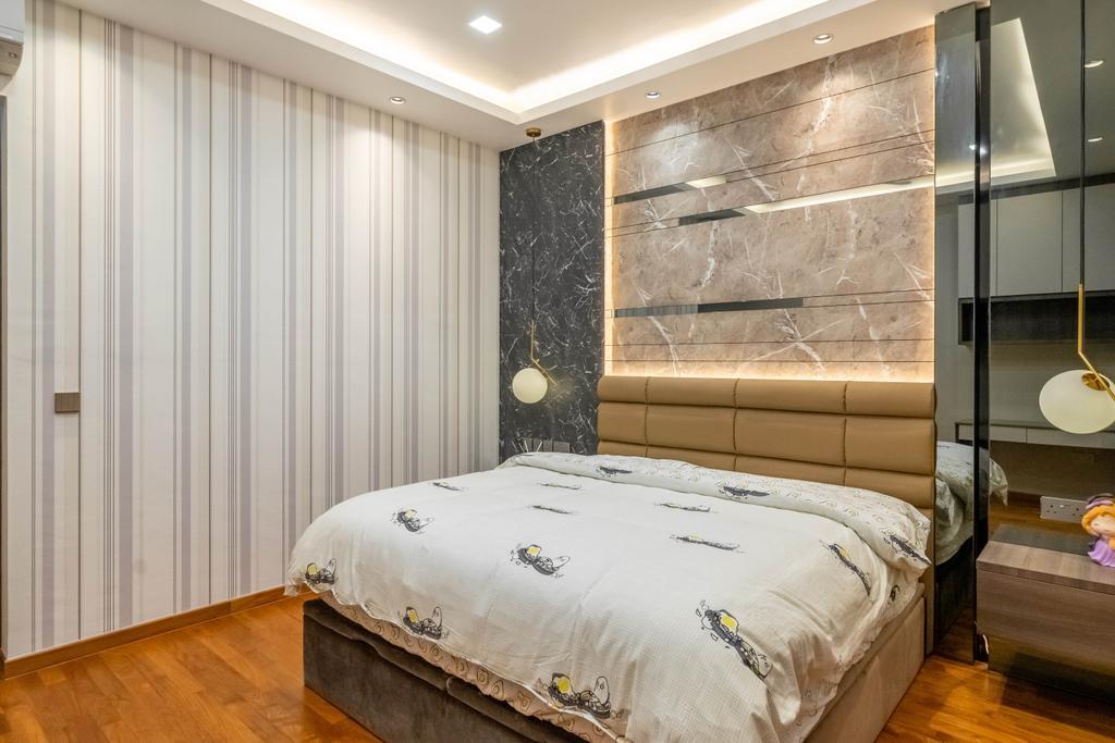 Modern, Landed, Bedroom, Jalan Redop, Interior Designer, Design 4 Space