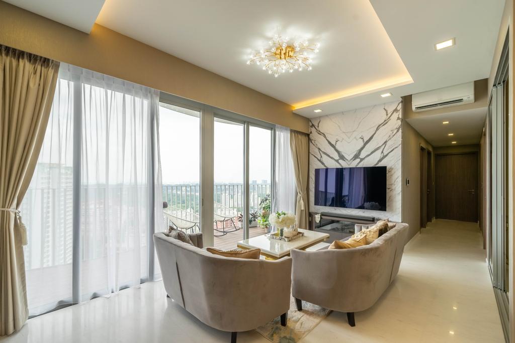 Modern, Condo, Living Room, Queens Peak, Interior Designer, Design 4 Space