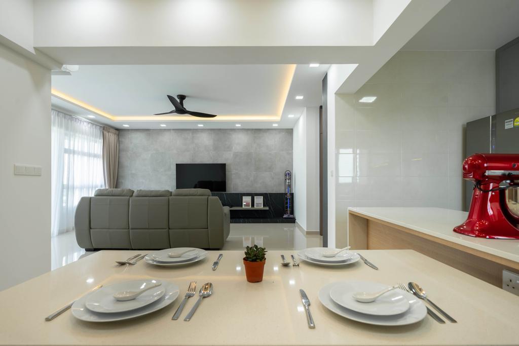 Modern, HDB, Dining Room, East Creek @ Canberra, Interior Designer, Design 4 Space, Contemporary