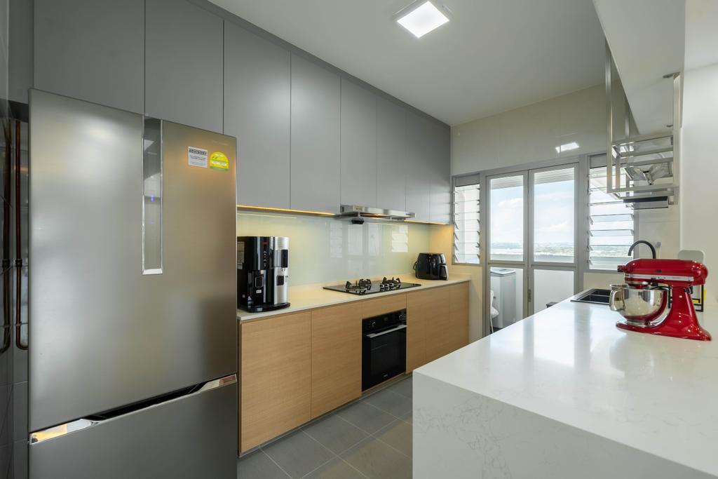 Modern, HDB, Kitchen, East Creek @ Canberra, Interior Designer, Design 4 Space, Contemporary