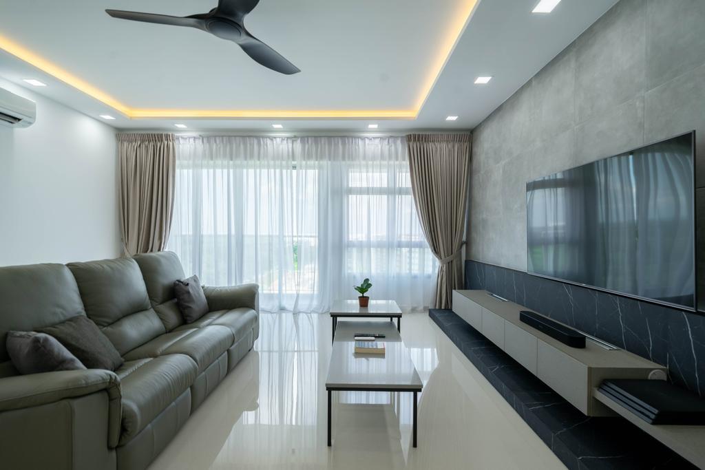 Modern, HDB, Living Room, East Creek @ Canberra, Interior Designer, Design 4 Space, Contemporary
