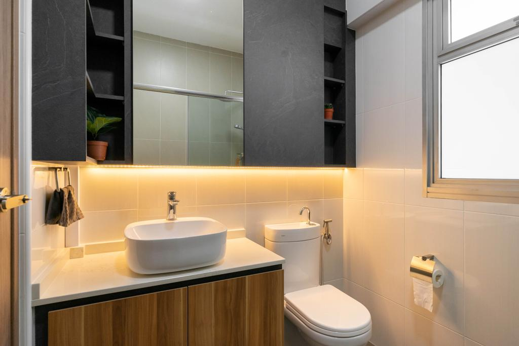 Modern, HDB, Bathroom, East Creek @ Canberra, Interior Designer, Design 4 Space, Contemporary