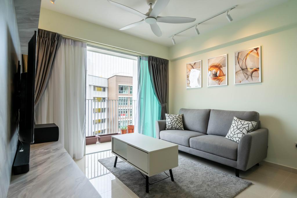 Modern, HDB, Living Room, East Crown @ Canberra, Interior Designer, Design 4 Space