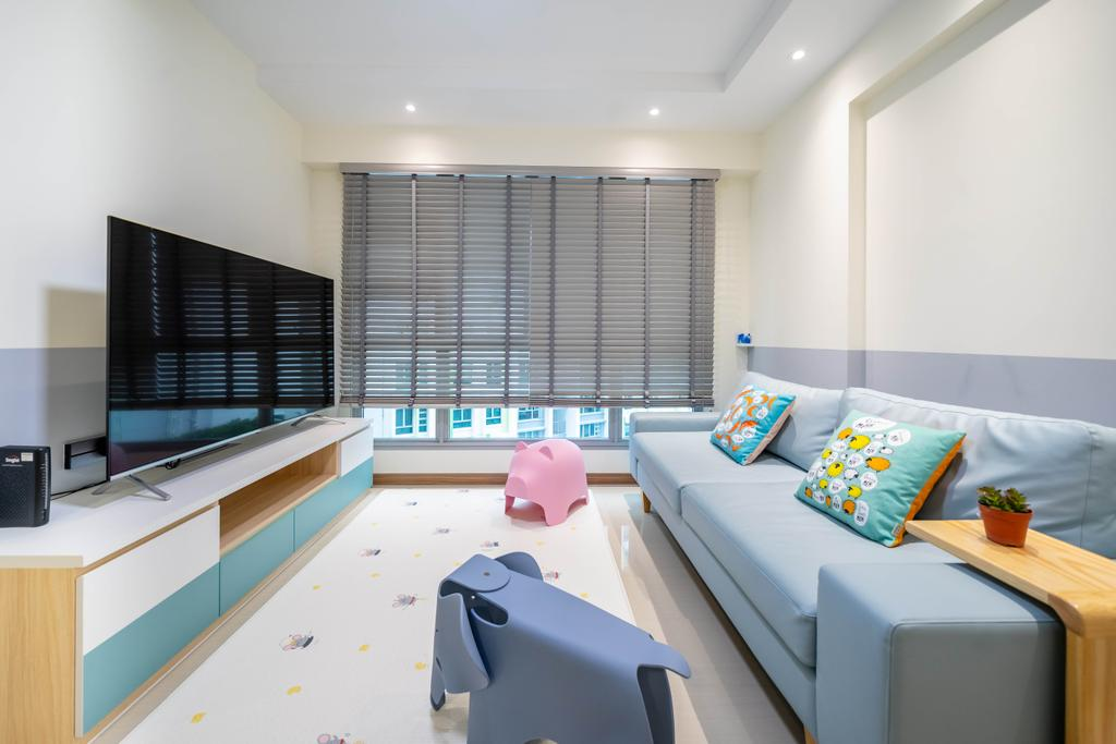 Modern, HDB, Living Room, Bidadari Park Drive, Interior Designer, Design 4 Space, Scandinavian