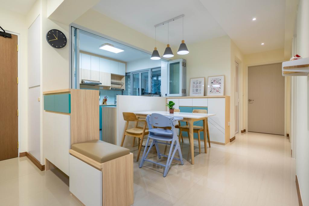 Modern, HDB, Dining Room, Bidadari Park Drive, Interior Designer, Design 4 Space, Scandinavian