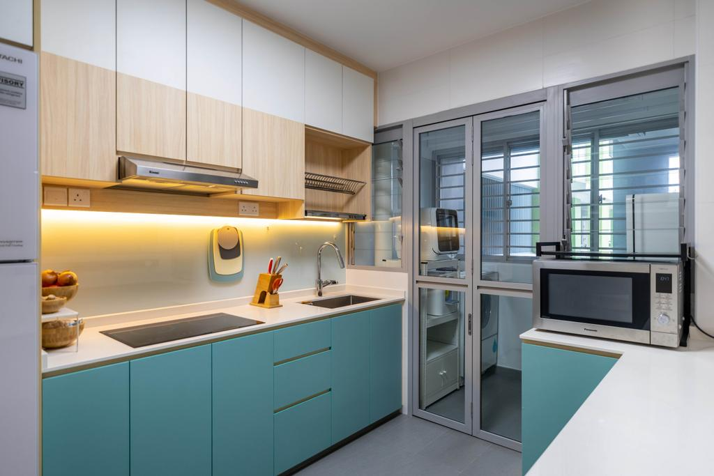 Modern, HDB, Kitchen, Bidadari Park Drive, Interior Designer, Design 4 Space, Scandinavian