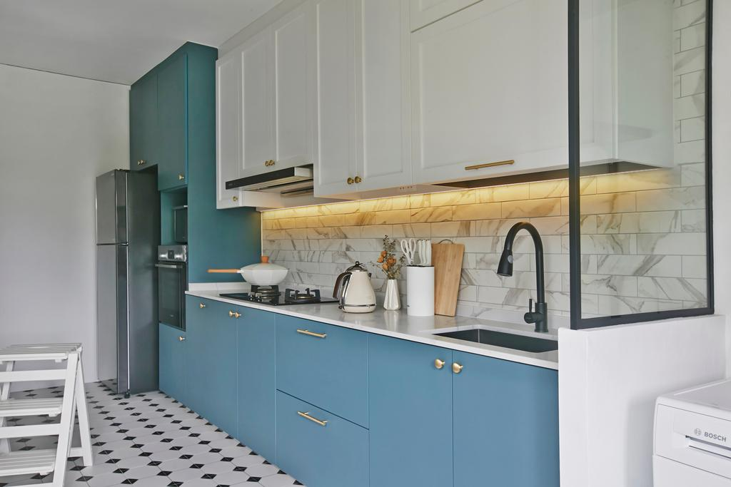 Contemporary, HDB, Kitchen, Wellington Circle, Interior Designer, Aart Boxx Interior