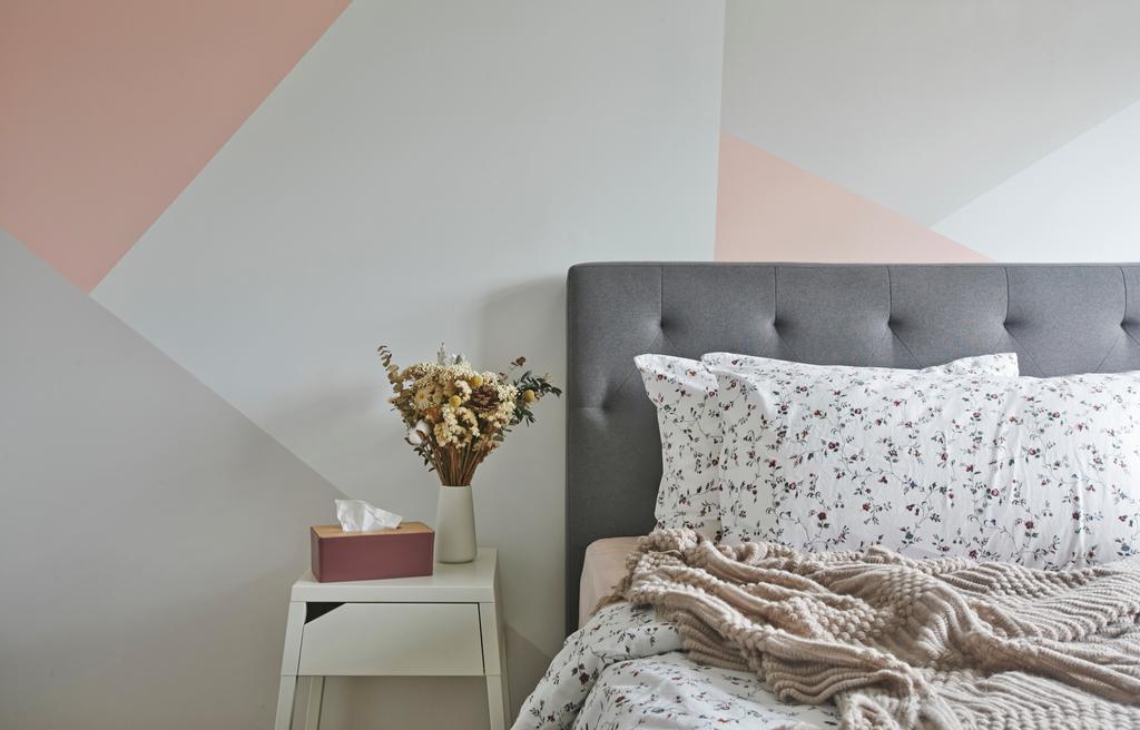 Contemporary, HDB, Bedroom, Wellington Circle, Interior Designer, Aart Boxx Interior, Pastels