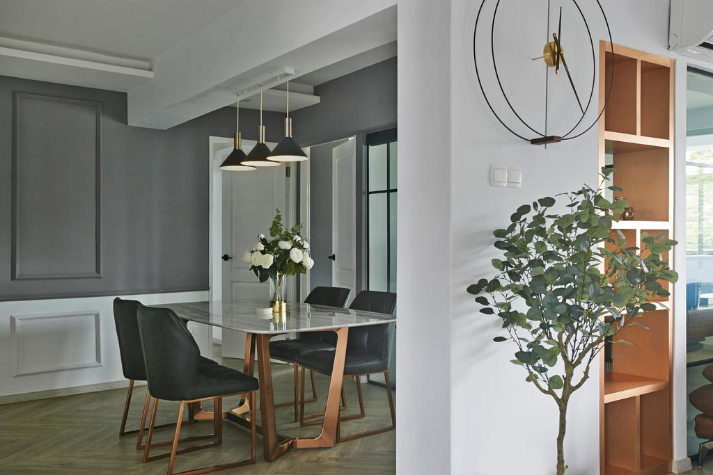 Contemporary, HDB, Dining Room, Wellington Circle, Interior Designer, Aart Boxx Interior
