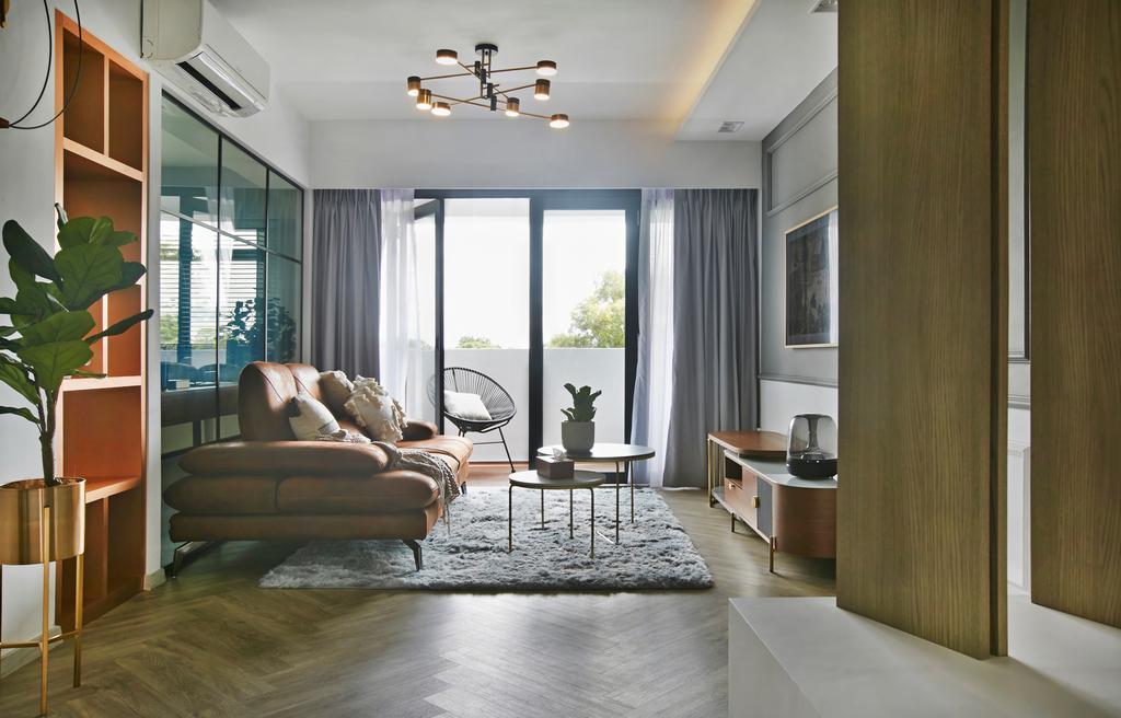 Contemporary, HDB, Living Room, Wellington Circle, Interior Designer, Aart Boxx Interior