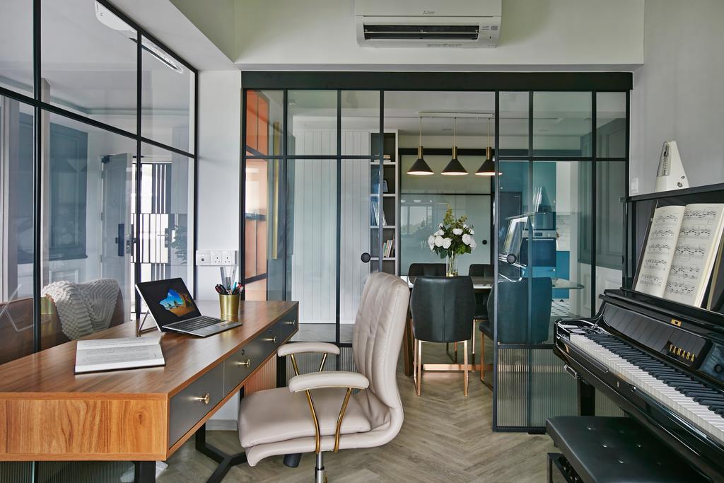 Contemporary, HDB, Study, Wellington Circle, Interior Designer, Aart Boxx Interior