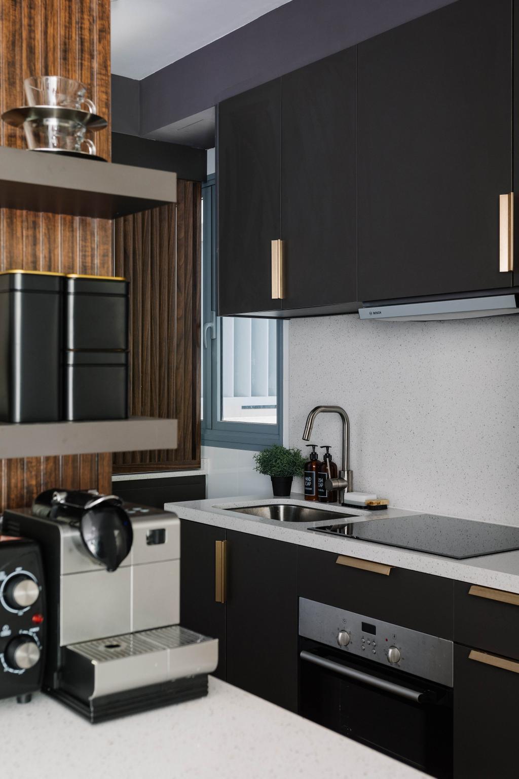 Contemporary, HDB, Kitchen, Pasir Ris One, Interior Designer, ELPIS Interior Design